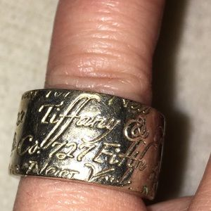 Authentic Tiffany & Co. Sterling Silver Band Ring